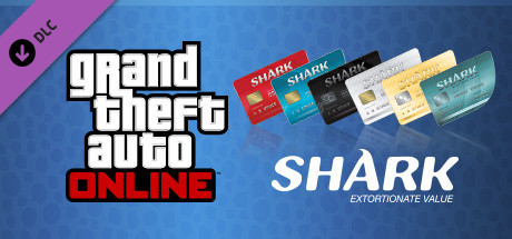 Grand Theft Auto V Online Red Shark Cash Card 100,000$
